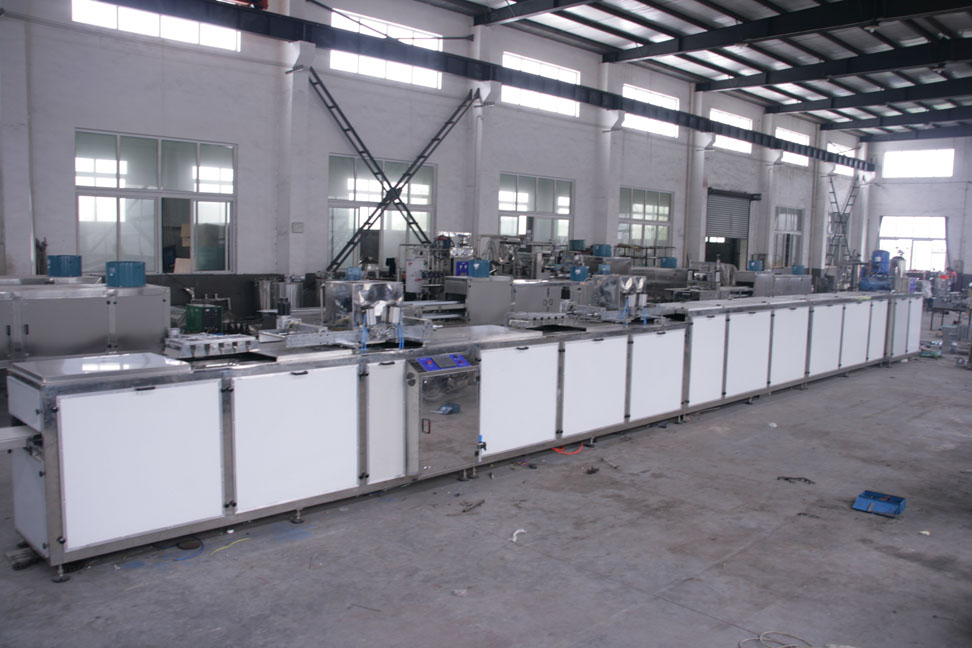 Chocolate moulding machines line